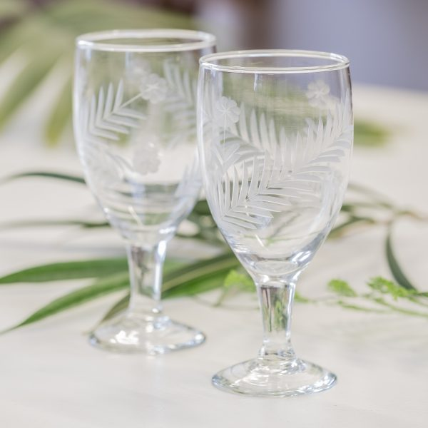 6er Set Gläser Blätter Weingläser Glass Wine Leaves