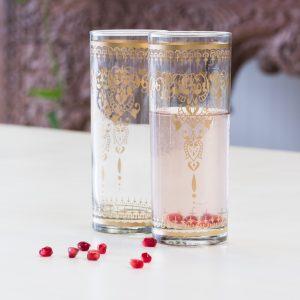 6er Set Gläser Marokko Wassergläser Saftgläser Juice Glass Empress Zenza