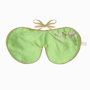 Augenmaske Schlafbrille Jade Blossom hell-grün Lavender Eye Mask Holistic Silk