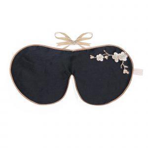 Holistic Silk Augenmaske Schlafbrille Black Blossom schwarz Lavender Eye Mask
