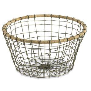 Koba Bowl round large Drahtkorb Korb rund groß Nkuku