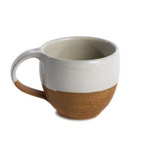 Mali ceramic coffee mug white-terracotta Kaffee Tasse weiß Nkuku
