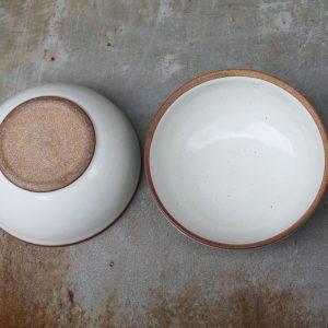 Mali ceramic large bowl white-terracotta Fair Trade Schüssel Schale weiß Nkuku