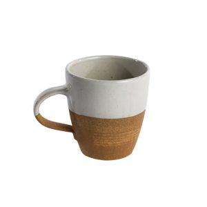 Mali ceramic large mug white-terracotta Fair Trade Becher Tasse groß weiß Nkuku