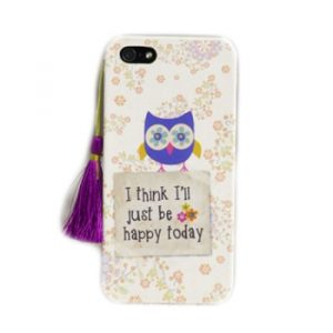 Phone Case Just be Happy iPhone 5 Handycover Hülle Natural Life