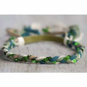 Festival Headband green Hippie Haarband grün Haarschmuck Natural Life