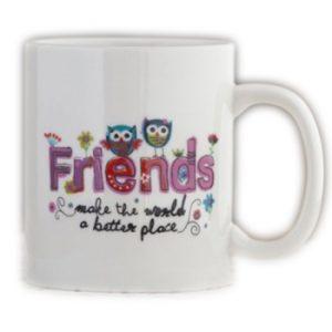 Tasse Friends make the world a better place Kaffeetasse Becher Natural Life