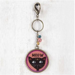 Schlüsselanhänger - Meow - Katze Key Chain Resin Natural Life