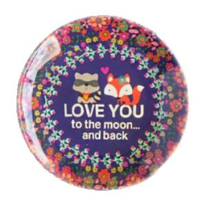 Mini Melamine Plate Love You To The Moon Foxes - kleiner Melmin Teller Spruch Natural Life