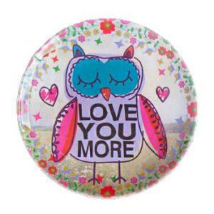 Mini Melamine Plate Love You More Owl - kleiner Melmin Teller Spruch Eule Natural Life