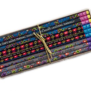 Bleistifte Set Enjoy the little things bunte Sprüche Words Pencils Natural Life