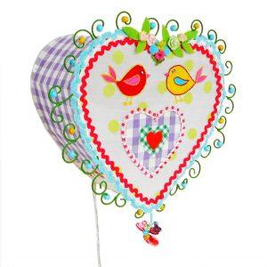 Lampe Heart to Heart Wandlampe Herz IM-7193 Taj Wood & Scherer