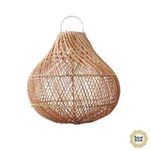 Bottle Hängelampe M natur Rattan Boho Lampe Bazar Bizar