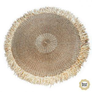 Fransen Teppich Bast Sisal 150 cm Bazar Bizar