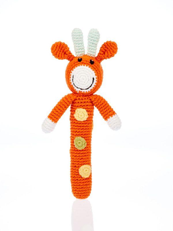 Stab Rassel Giraffe orange Pebble