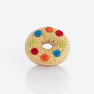 Donut Rassel gelb Smarties Pebble
