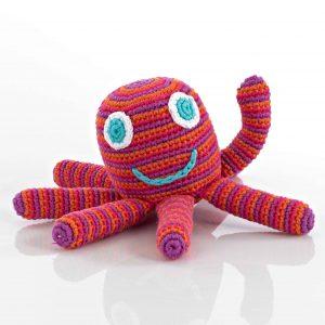 Rassel Octopus pink Pebble